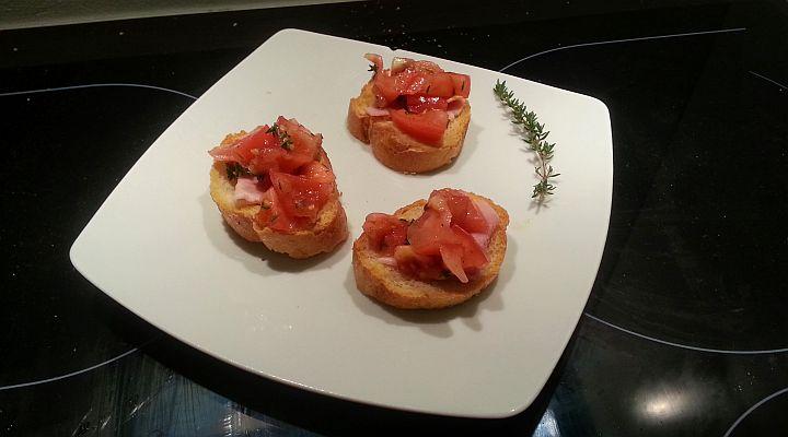 Bruschetta pomidorowa a la Tymianek