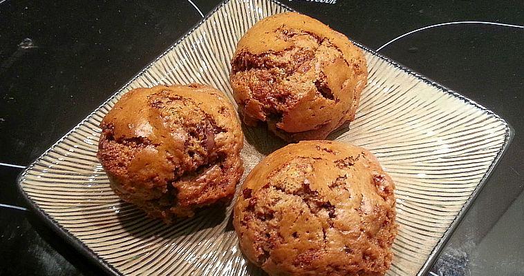 Muffinki (i plaskatki) czekoladowe jajko niespodzianka