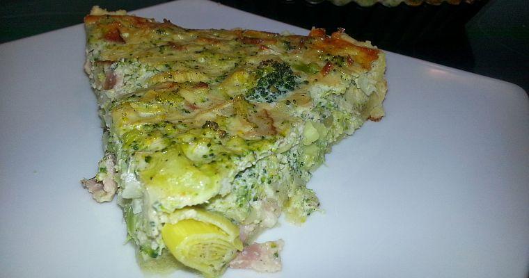 Tarta z brokułami i serem pleśniowym (bez wydziwiania)