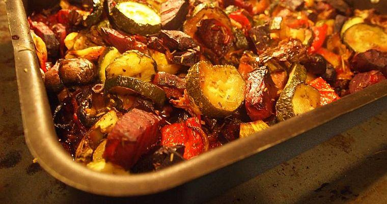 Pieczone warzywa z rozmarynem
