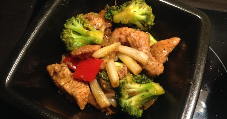 Filet z indyka z brokułami i fasolką szparagową