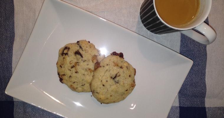 Ciastka do kawy z migdałami i czekoladą