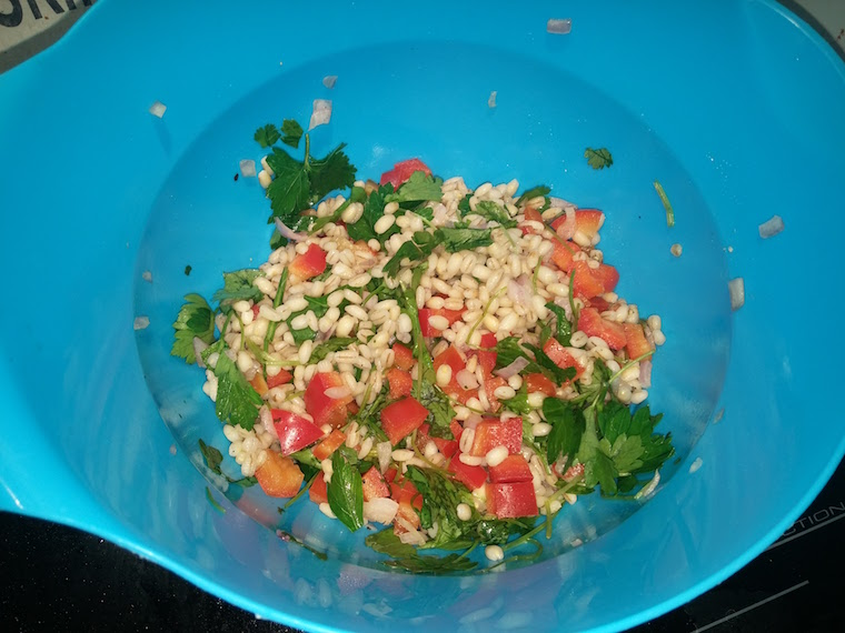 kasza-peczak-z-warzywami-i-kolendra