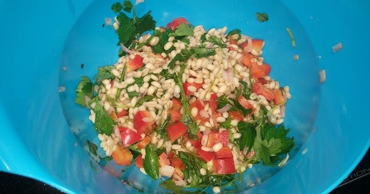 Pęczak z warzywami i kolendrą