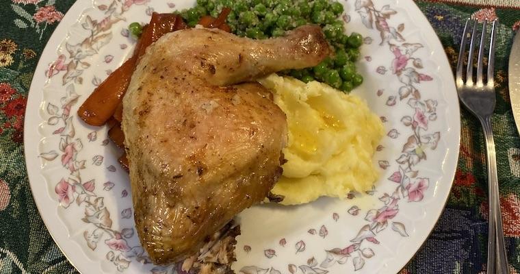 Kurczak z piekarnika pieczony w solnej skorupie