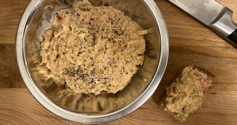 Pasta z makreli z puszki z Biedronki